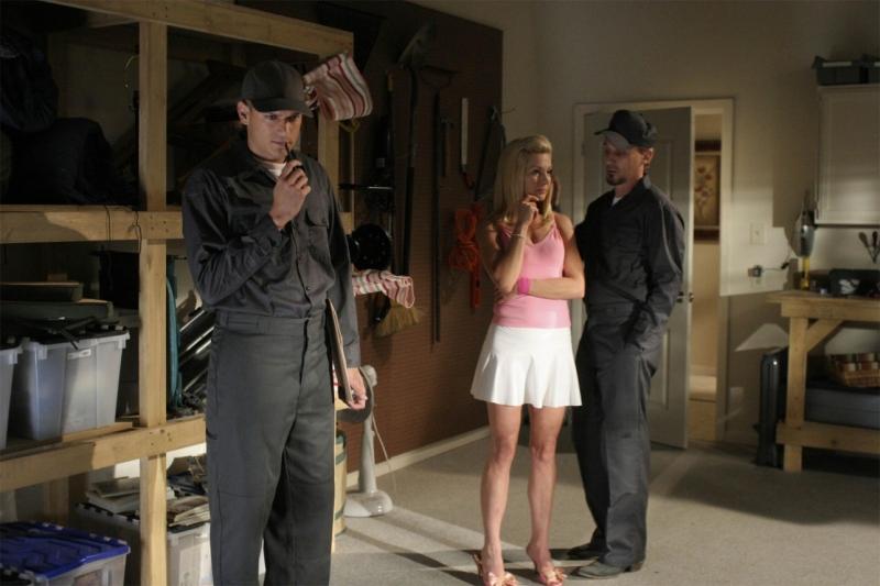 Wentworth Miller, Diana Scarwid e Robert Knepper nell'episodio 'Suddivisione' della serie Prison Break