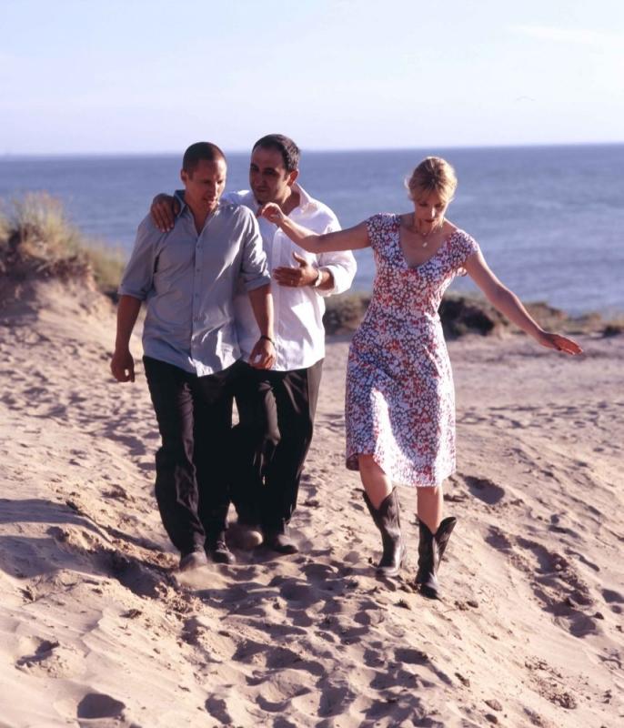 Benno Fürmann, Nina Hoss e Hilmi Sözer in una scena del film Jerichow