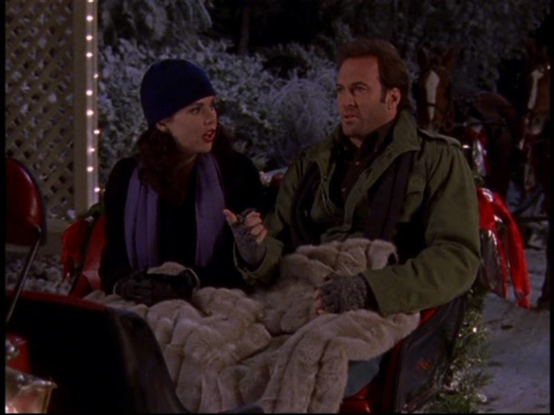 Scott Patterson e Lauren Graham si godono una gita in slitta nell'episodio 'Bloccati dalla neve' della serie Una mamma per amica
