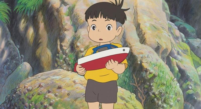 Un'immagine tratta dal film Ponyo on the Cliff by the Sea diretto da Hayao Miyazaki