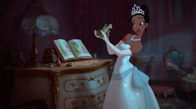 Un'immagine tratta dal film d'animazione The Princess and the Frog