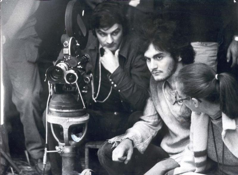 Tito Schipa Jr. sul set del film Orfeo 9