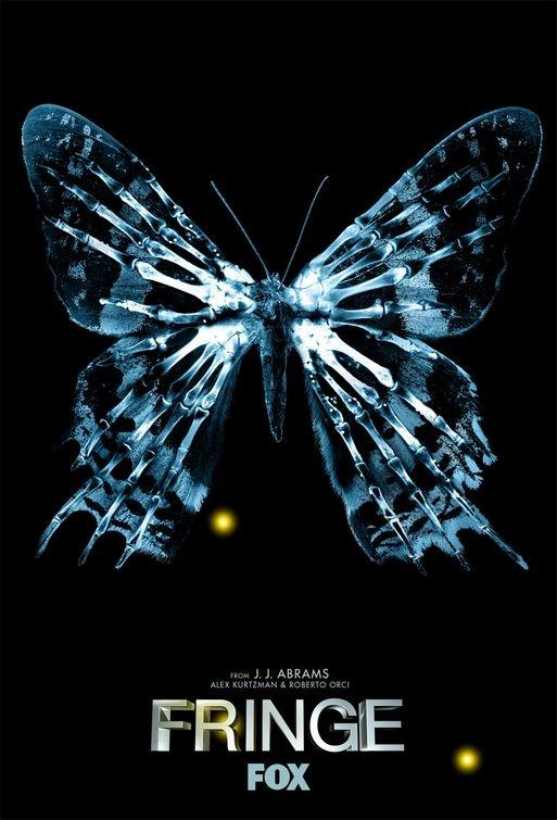 Locandina di Fringe con immagine della farfalla