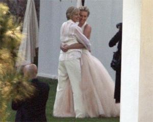 Le prime immagini del matrimonio di Ellen DeGeneres e l'attrice australiana Portia De Rossi