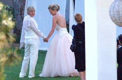 Le prime immagini delle nozze di Ellen DeGeneres e Portia De Rossi
