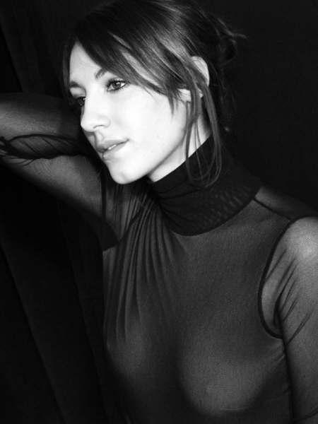 Un ritratto in bianco e nero di Gaia Piras