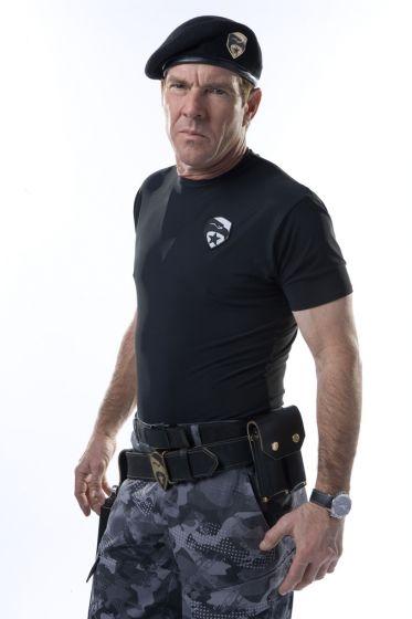 Dennis Quaid in un'immagine promo dell'action movie G.I. Joe