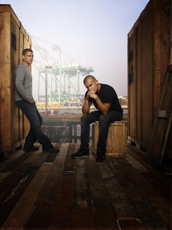 Dominic Purcell e Wentworth Miller in un'immagine promozionale della quarta stagione di Prison Break
