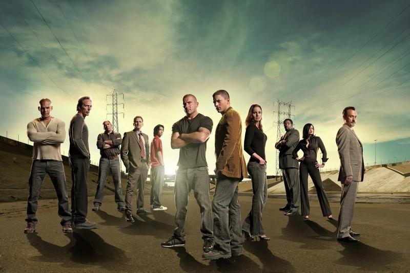 Il cast al completo della quarta stagione della serie televisiva Prison Break