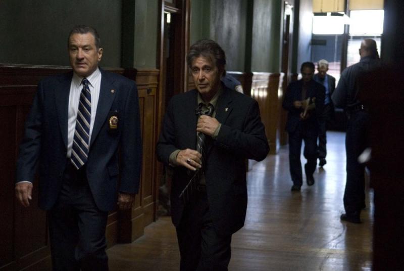 Robert De Niro e Al Pacino in una sequenza del film Sfida senza regole - Righteous Kill