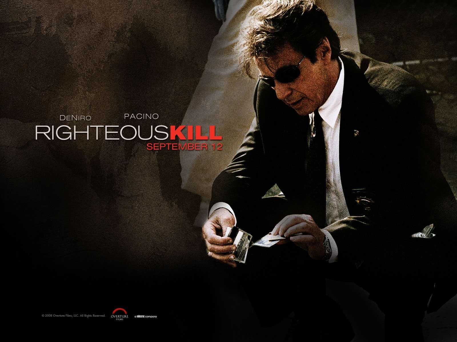 Un wallpaper del film Sfida senza regole - Righteous Kill con Al Pacino