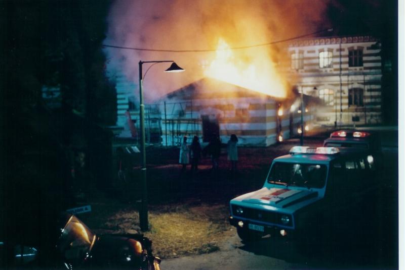 La suggestiva scenografia realizzata da Enzo De Camillis per il film Senso di colpa di M. Spano
