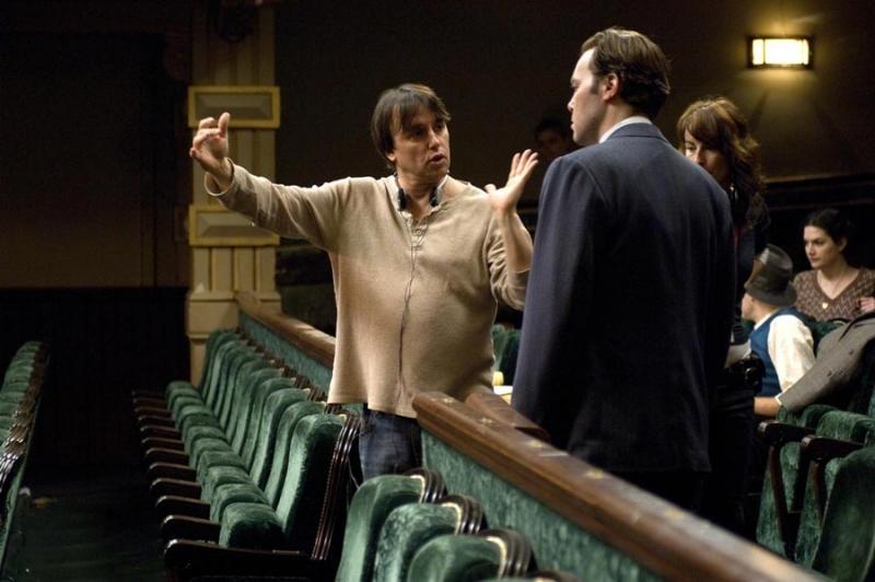 Il regista Richard Linklater sul set del film Me and Orson Welles
