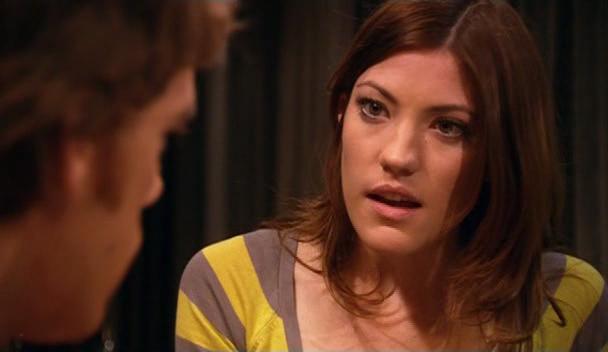 Un primo piano di Jennifer Carpenter nell'episodio 'Left Turn Ahead' della serie tv Dexter