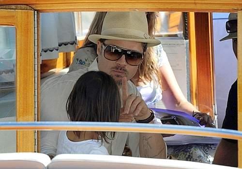 65esima Mostra del Cinema: Brad Pitt e suo figlio Maddox a Venezia
