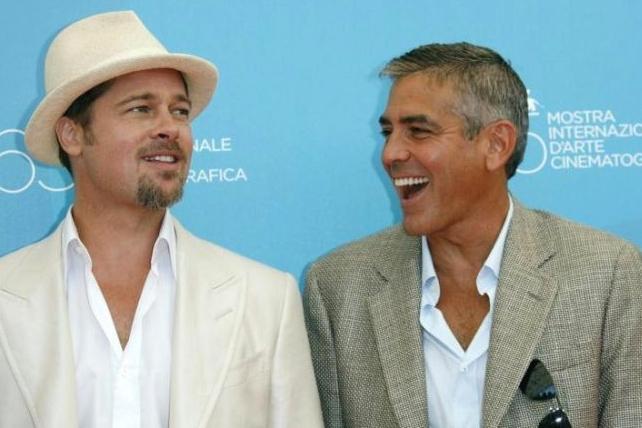 Venezia 2008: Clooney e Pitt presentano 'Burn After Reading - A prova di spia' dei fratelli Coen