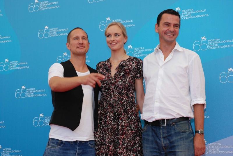 65. Mostra del Cinema di Venezia: Nina Hoss con il cast del film Jerichow