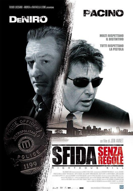 Una locandina italiana del film Sfida senza regole - Righteous Kill