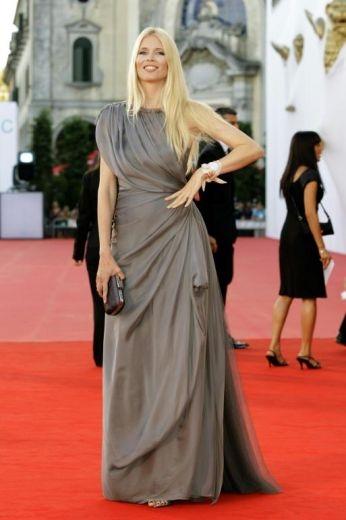 Venezia 2008: l'ex-super model Claudia Schiffer