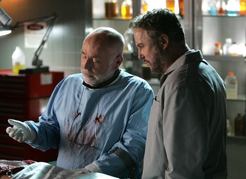 Robert David Hall insieme a William Petersen nell'episodio 'Art Imitates Life' della serie C.S.I.