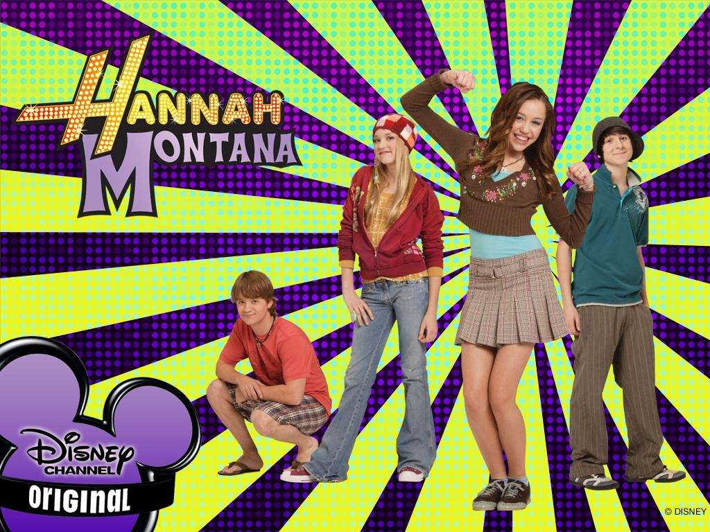 Hannah Montana ed i suoi amici in un wallpaper della serie