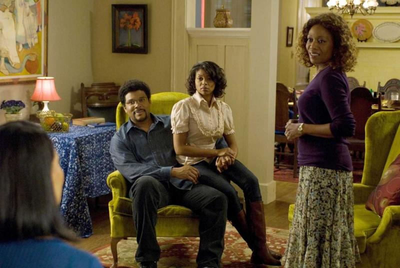 Tyler Perry, Taraji P. Henson e Alfre Woodard in una scena del film The Family That Preys