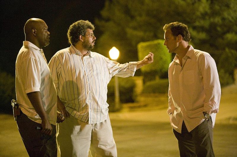 Samuel L. Jackson, il regista Neil LaBute e Patrick Wilson sul set ...