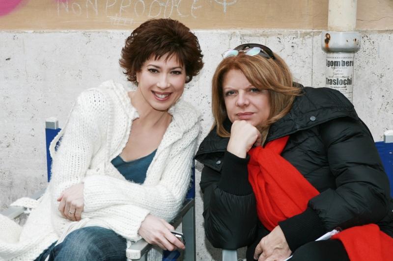 Veronica Pivetti e Rossella Izzo sul set di Provaci ancora Prof! 3