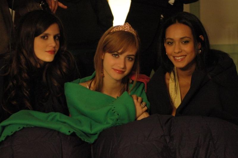 Chiara Chiti, Nadir Caselli e Desirèe Noferini sul set del film Un gioco da ragazze