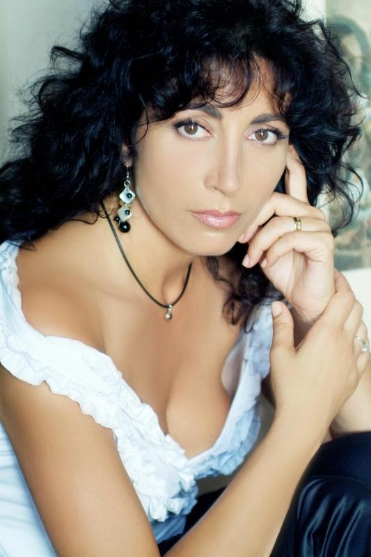 Una splendida Antonella Stefanucci, in uno scatto di Marinetta Saglio