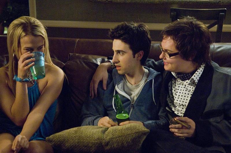 Michele Simms, Josh Zuckerman e Clark Duke in una scena del film Sex Drive