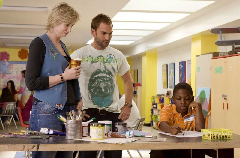 Jane Lynch, Seann William Scott e Bobb'e J. Thompson in una scena del film Role Models