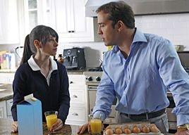 Cassidy Lehrman e Jeremy Piven in una scena dell'episodio 'Seth Green Day' della quinta stagione di Entourage