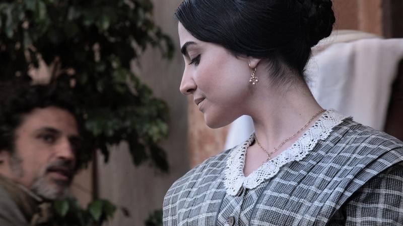 Emanuela Mulé nel ruolo di Cristina ne La baronessa di Carini diretto da Umberto Marino