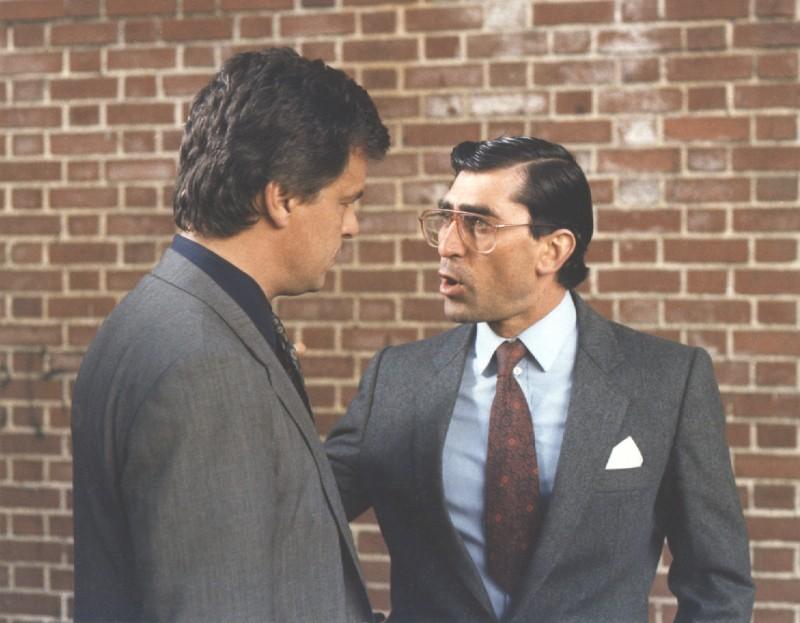 Domenico Gennaro e Michele Placido in una scena di Pizza Connection di Damiano Damiani