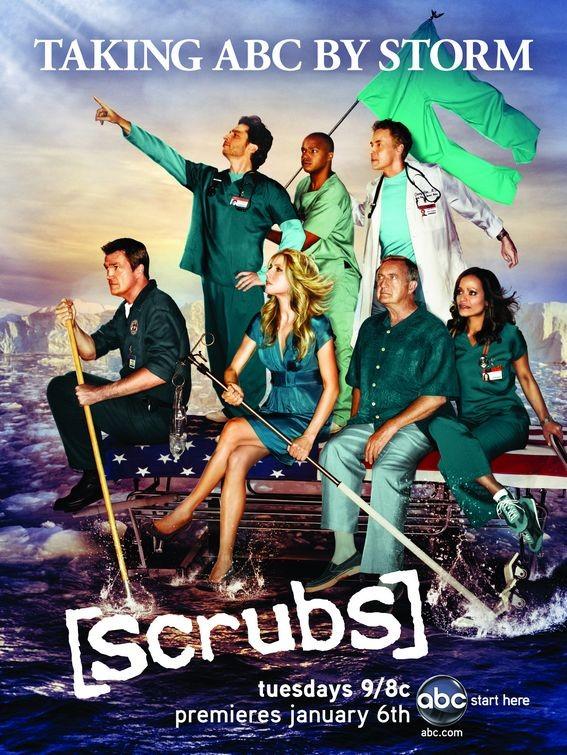 Un poster dell'ottava stagione di Scrubs