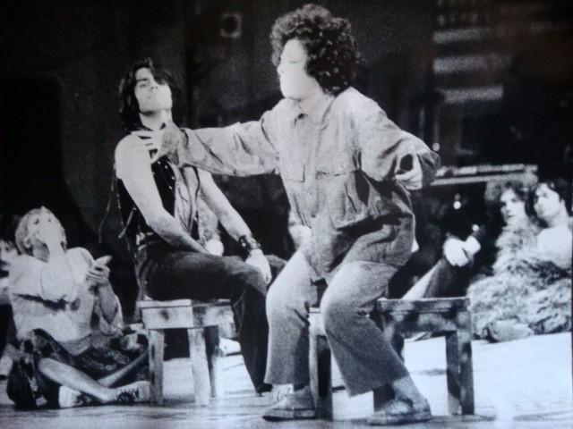 1970: Giselda Castrini con Teo Teocoli nel musical Hair (prima edizione italiana)