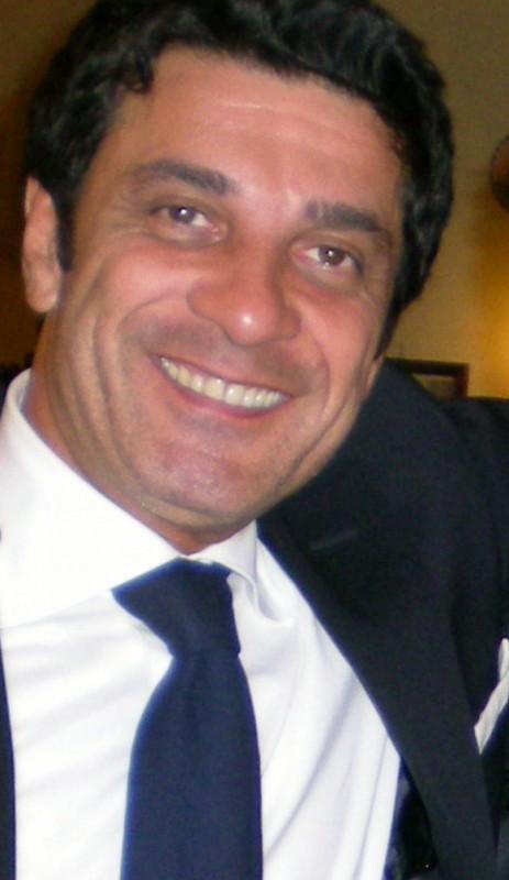 Gaetano Antinoro durante la presentazione del corto Clamoroso al Cibali per Telethon 2008, durante una serata al Teatro Massimo di Catania.