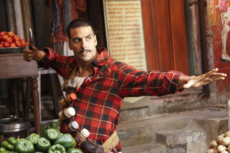 Akshay Kumar in una scena del film Chandni Chowk to China