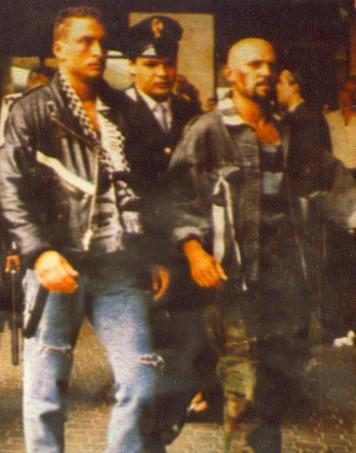 Claudio Del Falco nel ruolo del Capo Drugo in Ultrà di Ricky Tognazzi.