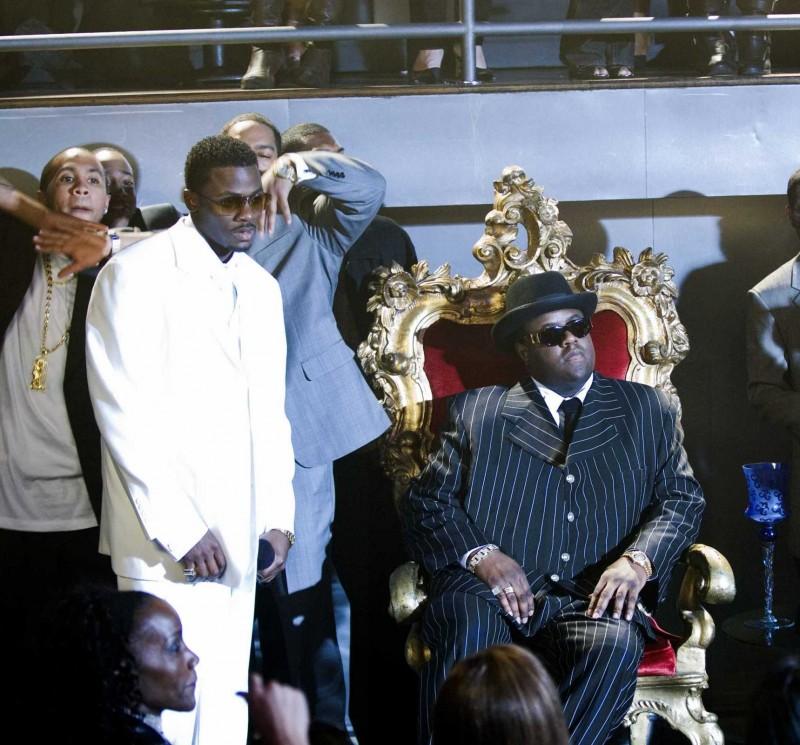 Derek Luke e Jamal Woolard in una scena del film Notorious