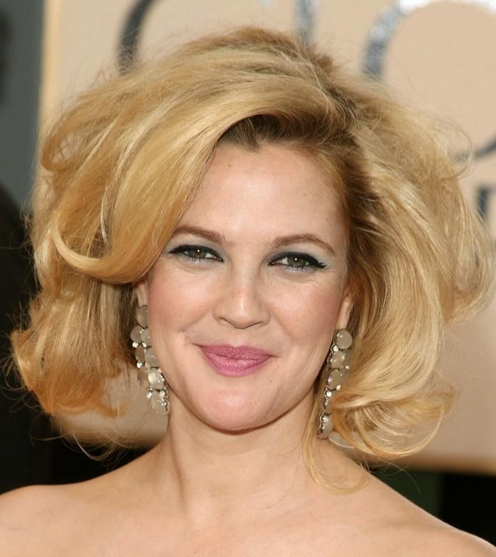 Drew Barrymore sul tappeto rosso dei Golden Globes 2009