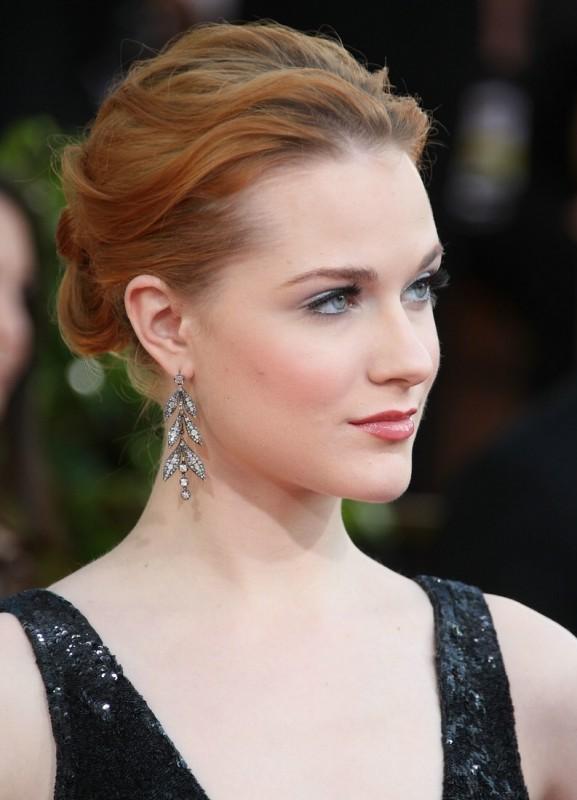 Evan Rachel Wood sul tappeto rosso dei Golden Globes 2009