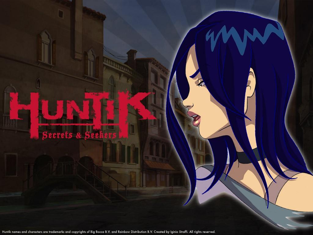 Il personaggio di Zhalia Moon in un wallpaper della serie Huntik