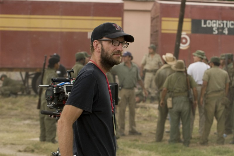 Il regista Steven Soderbergh sul set di Che - L'Argentino