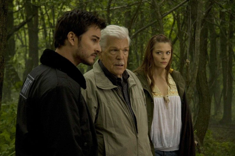 Kerr Smith, Tom Atkins e Jaime King in un'immagine del film My Bloody Valentine 3D