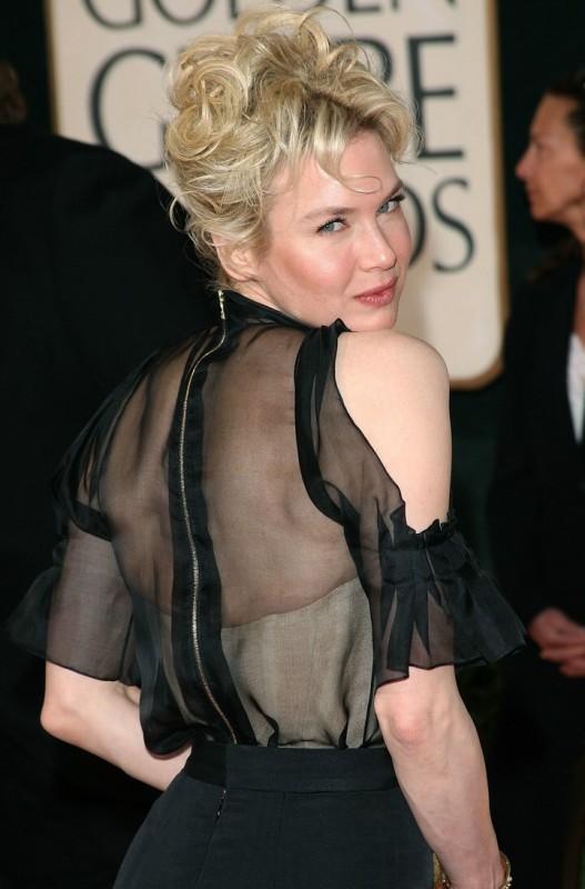 Renee Zellweger ai Golden Globes 2009