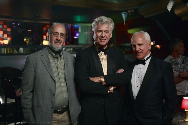 Richard Libertini, John Rubinstein e Barry Bostwick nell'episodio Criss Angel is a Douche Bag di Supernatural
