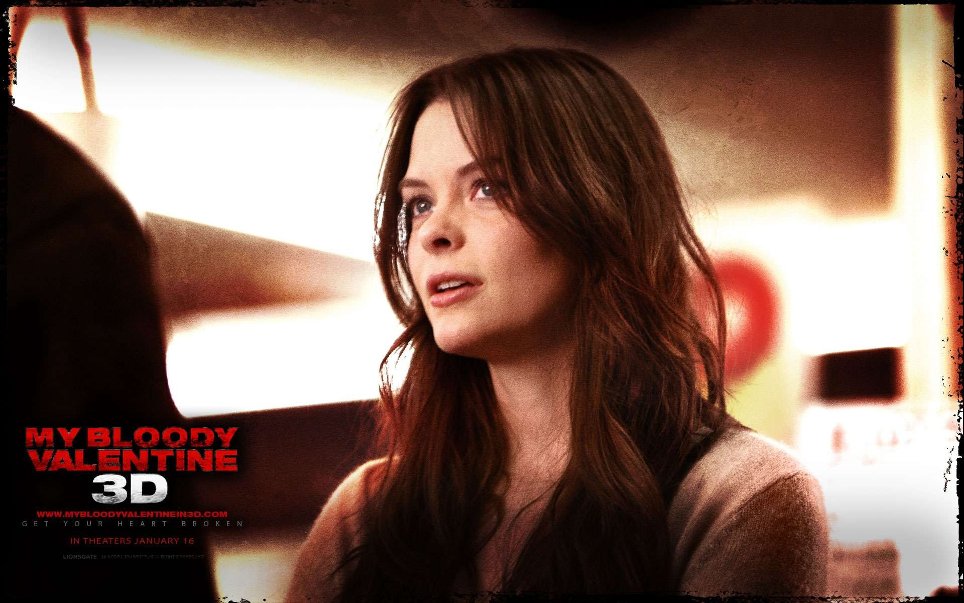 Un wallpaper del film My Bloody Valentine 3D con Jaime King