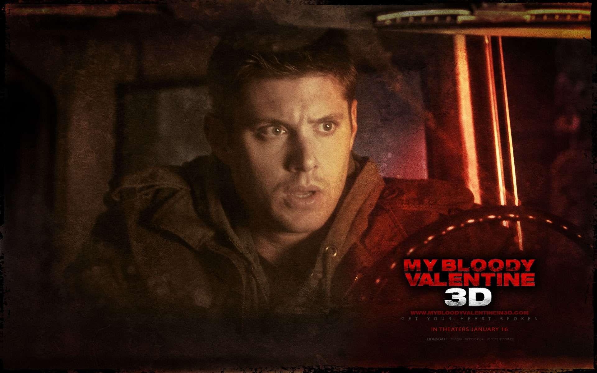 Un wallpaper del film My Bloody Valentine 3D con Jensen Ackles